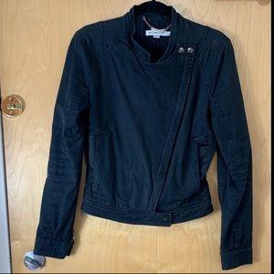 See by Chloe Black Cotton Moto Biker Jacket